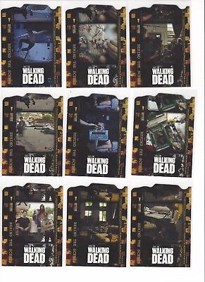 2011 CRYPTOZOIC WALKING DEAD SEASON 1 BEHIND THE SCENES CHASE SET