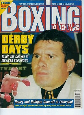 Julio Cesar Chavez Boxing Boxing News March 1998 Magazine No Label