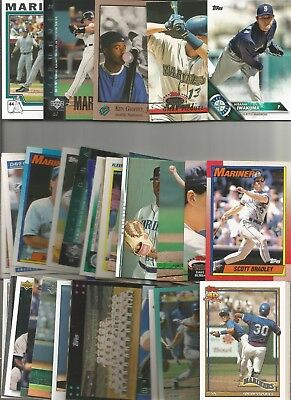 300+SEATTLE MARINERS BASEBALL TRADING CARD LOT W/some 2016-17&18s