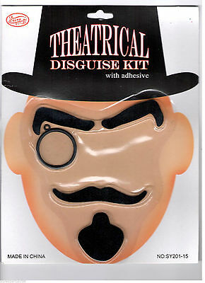 Theatrical Disguise Kit with adhesive Great for Costumes Fancy Dress Party UK Disguise Kit