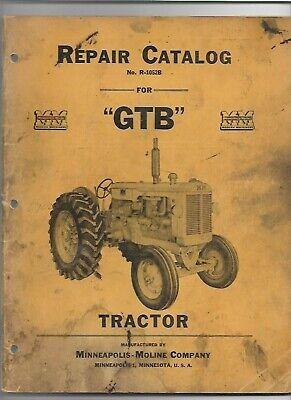 Minneapolis Moline Gtb Tractor Parts Manual Catalog