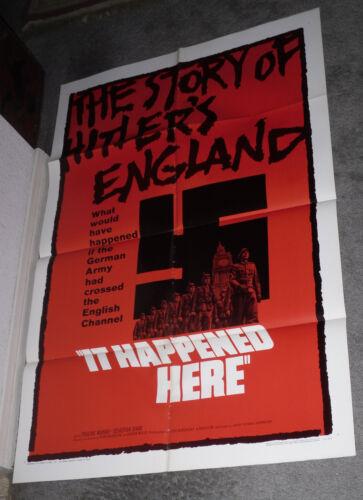 IT HAPPENED HERE original 1966 movie poster KEVIN BROWNLOW/NAZI INVADE BRITAIN