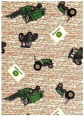 (John Deere Tractor Toss Rock Wall by Springs Creative bty PRICE REDUCED)