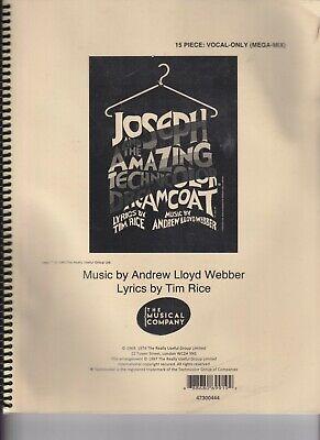 Joseph And The Amazing Technicolor Dream Coat 15 Piece: Vocal Only
