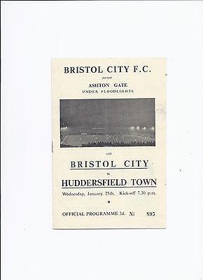 Bristol City v Huddersfield Town 25 January 1956 Friendly