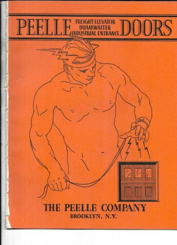 Original 1933 Peelle Company In Brooklyn Elevator, Dumbwaiter, Entrances Catalog