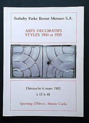 Sotheby Parke Bernet Monaco Decorative Art 1900 1925 Bugatti Galle Helene Henry