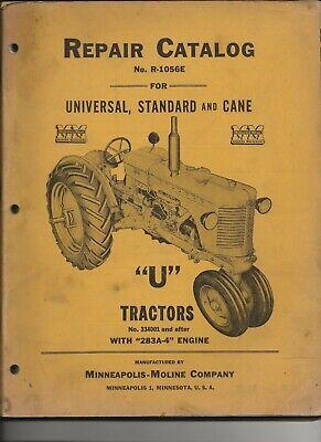 Minneapolis-moline U Tractor Repair Catalog R-1045b - Universal Standard Cane
