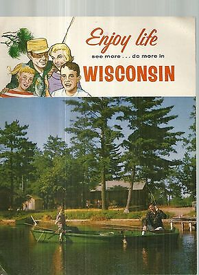Vintage Travel Guide for Wisconsin Indian Head Madison Milwaukee Green Bay