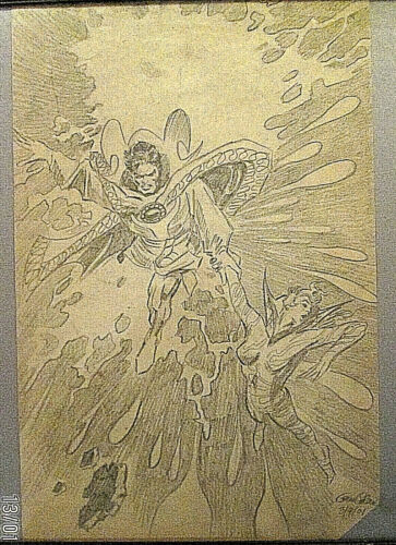 GENE COLAN: (DOCTOR STRANNG) ORIG,COMMISSION PENCIL COVER ART (CLASSIC)