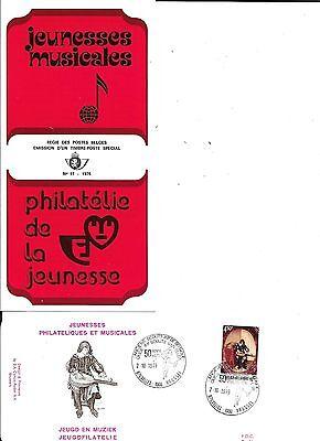 1 x feuillet prévente jeunesse musicale  1976  +  FDC P.491