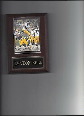 Bell Plaque (LE'VEON BELL PLAQUE PITTSBURGH STEELERS FOOTBALL NFL GAME ACTION)