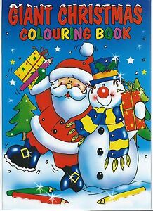 2 GIANT CHRISTMAS COLOURING BOOKS 96 QUALITY WHITE PAGES IN EACH IDEAL GIFT