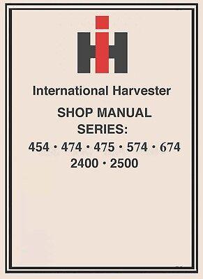 674 International Harvester Ih Technical Service Shop Repair Manual Farmall Cd