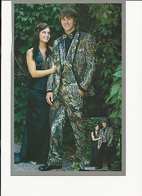 Mossy Oak Camo Tuxedo with matching vest and tie - Camo Tux