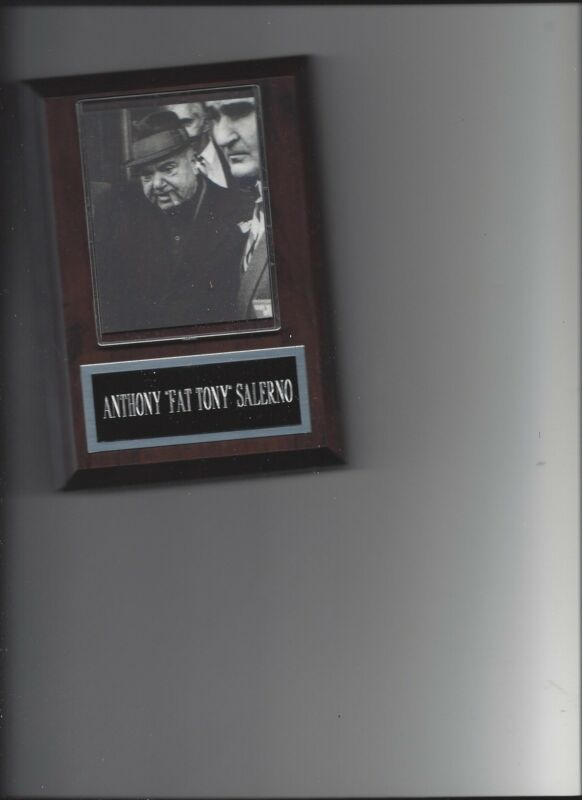 ANTHONY FAT TONY SALERNO PLAQUE MAFIA ORGANIZED CRIME MOBSTER MOB