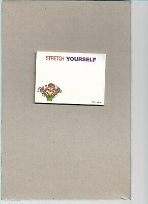 Funny Vintage 1986 3m Post-it Pad With Stretch Yourself Message