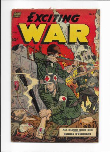 EXCITING WAR #5 ==> VG INTENSE WAR BATTLES STANDARD COMICS 1952