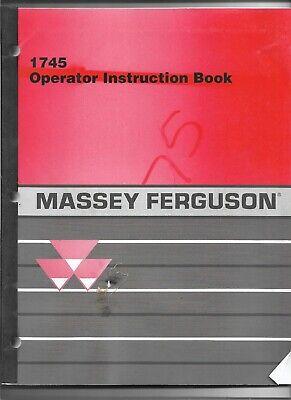 Original Oe Massey Ferguson 1745 Baler Operators Manual Number 700723850 E Rev.