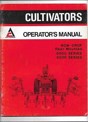 Oem Allis Chalmers 6800 8000 Row Crop Rear Mounted Cultivator Operators Manual