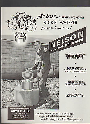 Nelson Automatic Water Bowl Brochure Farm Animals Nelson Mfg Cedar Rapids - Nelson Automatic Waterers