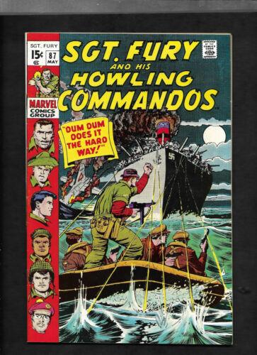 Sgt Fury #87......Marvel 1971....NM 9.4 White