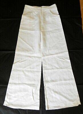 Joseph, Trousers, Pants, Wide Leg, White Trousers, Linen, Size Small
