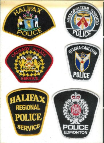 Lot of 10 Different Obsolete Canadian Police Patches