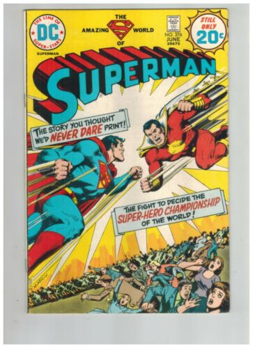 Superman 276 vs Captain Marvel   1st Captain Thunder (SHAZAM!)   VF- 1974