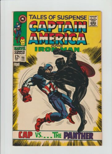 Tales of Suspense #98 (Feb. 1968, Marvel) VF (8.0) Cap. vs. The Black Panther