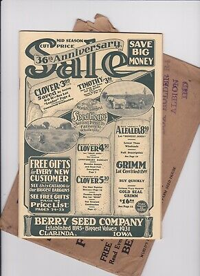 Red Envelope Catalog (1931 VINTAGE BERRY SEED COMPANY CATALOG CLARINDA IOWA  50 PAGES)