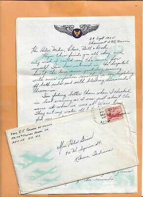 U.S MILITARY COVER  A.P.O 119 1955  US ARMY FIGHTER BOMBER GP WITH LETTER