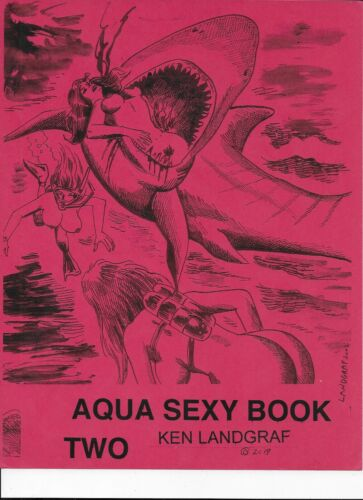 KEN LANDGRAF- AQUA SEXY BOOK NO. 2 SHARK ATTACKS - SCUBA GIRL SPEAR GUN BATTLES.