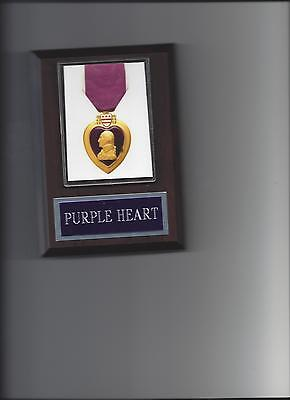 (PURPLE HEART PLAQUE USA MILITARY MEDAL AWARD US PHOTO ARMY NAVY MARINES AIR FORC)