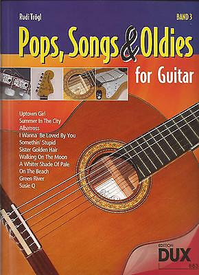 Gitarre Noten -  POPS, SONGS & OLDIES for GUITAR - Band 3