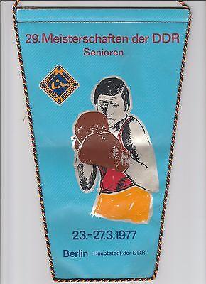 Orig.Wimpel   XXIX. DDR Meisterschaft im Boxen  BERLIN 1977  !!  SELTEN