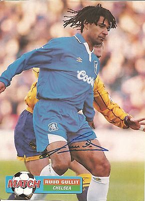 Ruud Gullit, Chelsea signed autographed football magazine picture.