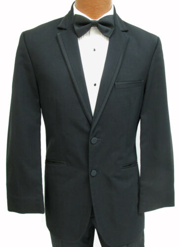 "Mens High Quality Black ""Connery"" Two Button Notch Lapel Tuxedo Suit Jacket"
