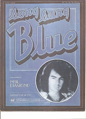 Song Sung Blue Sheet Music by Neil Diamond  copyright 1972