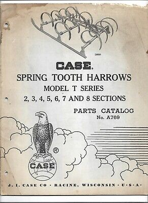 Original Oe Case T Series Spring Tooth Harrows 2-8 Sections Parts Catalog A769