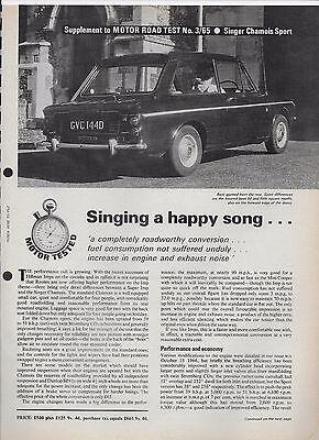 Motor road tests: 1966 Singer Chamois Sport & 1965 Singer Chamois Mk. 1
