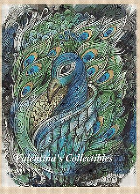 Peacock Counted Cross Stitch Chart #2-374