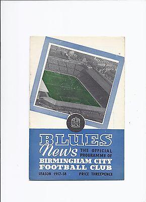 Birmingham City v Sampdoria 3 December 1957 Friendly