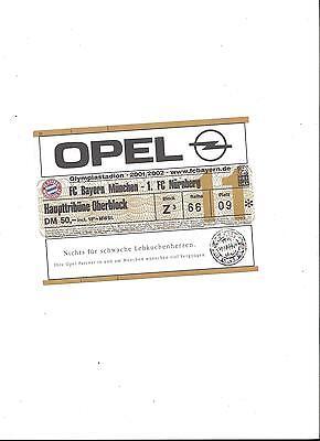 Gebraucht, Sammler Ticket: BAYERN MÜNCHEN - 1.FC NÜRNBERG, 24.11.2001, unbenutzt gebraucht kaufen  Nürnberg