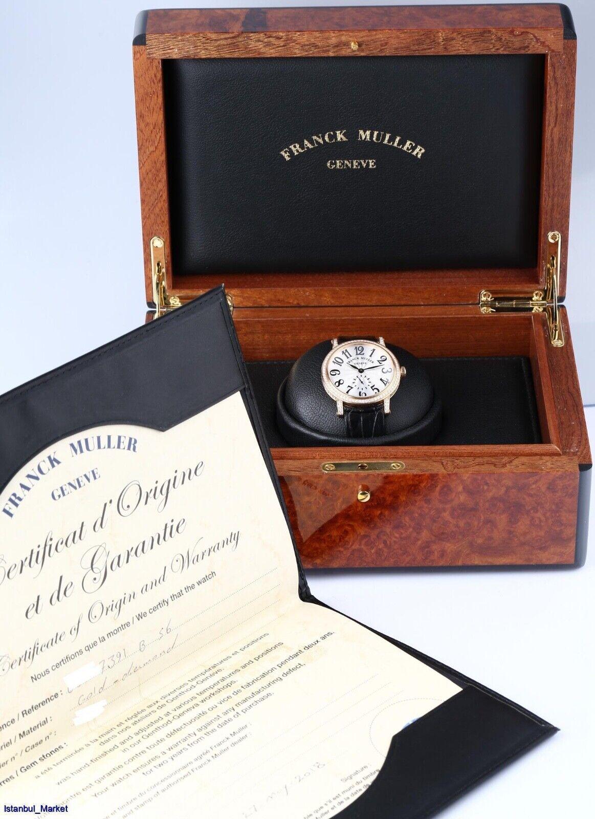 Franck Muller Diamond Dress Ref# 7391 B S6 D 18k Rose Gold & Diamonds - watch picture 1