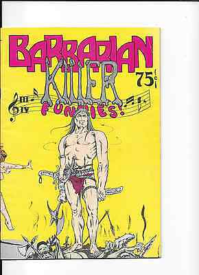 Barbarian Killer Funnies #1 Diamond Comics T-Bird Bud Plant 1974 NM.