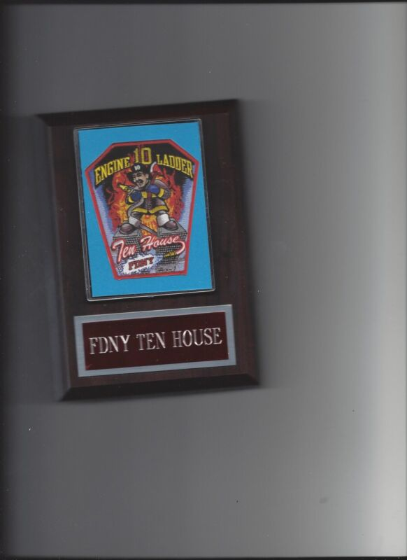FDNY TEN HOUSE PLAQUE NYC ENGINE 10 LADDER FIRE PHOTO PLAQUE FIRST RESPONDER