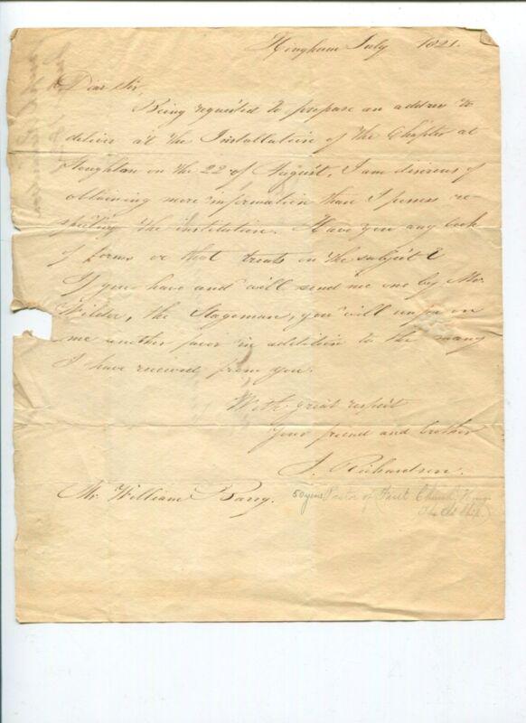 Joseph Richardson Massachusetts US Representative Congress Signed Autograph ALS