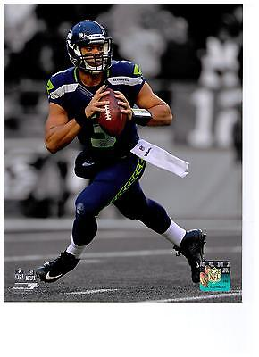 Russell Wilson Authentic Spotlight 8x10 Photo Seattle Seahawks NFL Hologram