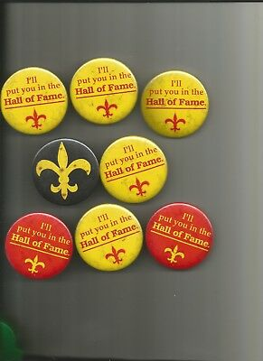 8 - 1980's New Orleans Saints Related 2 1/4